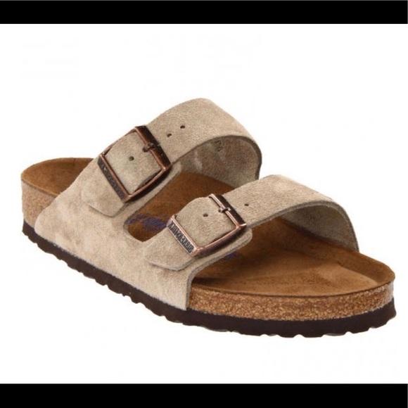 9c8370454f90 Birkenstock Arizona Taupe Suede Sandals 42 Reg NEW